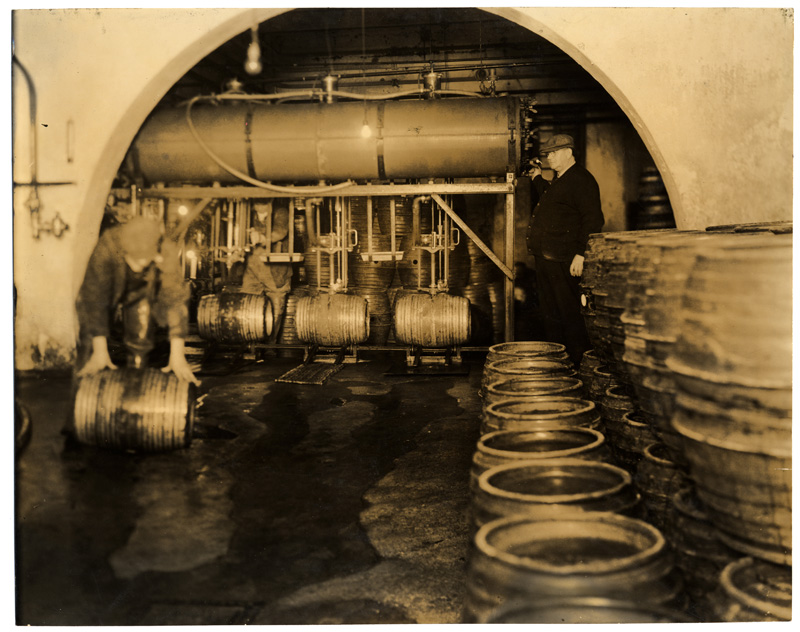 UMD Martin Library Archives SpColl_People's Brewery kegs_about 1934_mhs08819