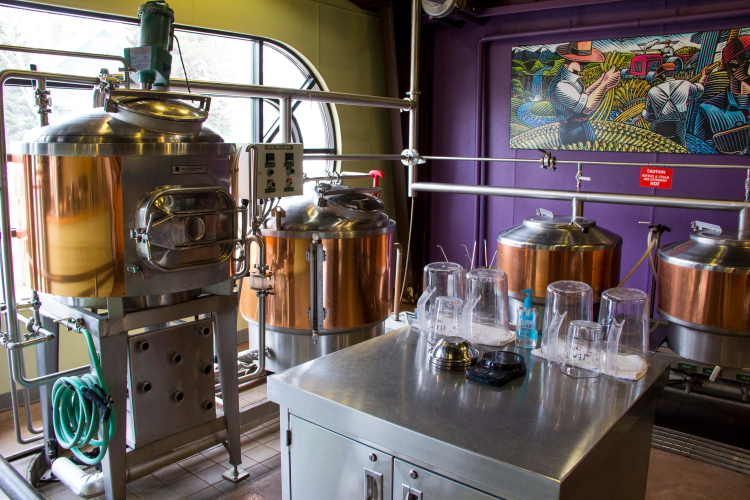 Vine Park's all-grain brewing system // Photo by Brian Kaufenberg