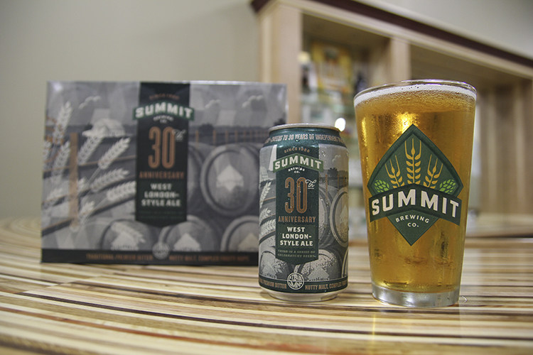 Summit Brewing's 30th Anniversary West London-Style Ale // Photo courtesy of Summit Brewing