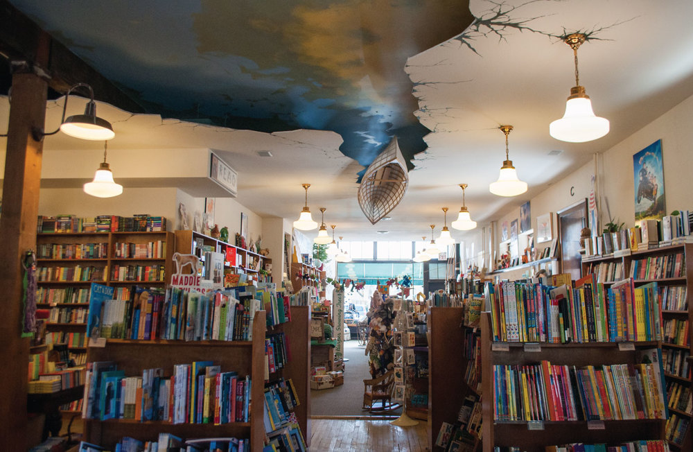 "The interior of Wild Rumpus was designed to look like the book ""The Salamander Room"" // Photo by Chalsey Falk"