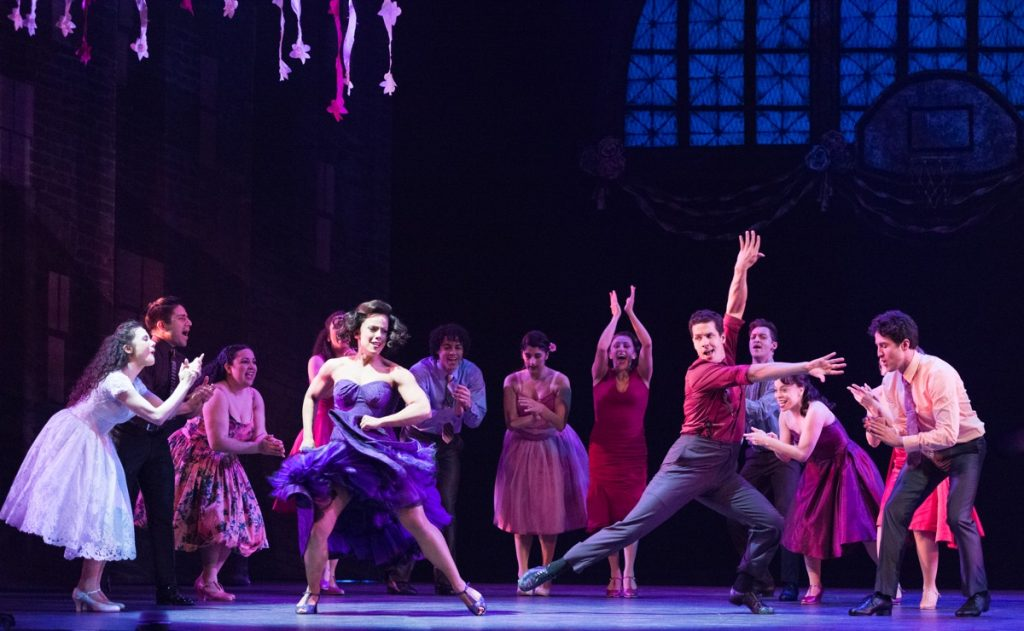 Desiree Davar as Anita and Alexander Gil Cruz as Bernardo with the ensemble of West Side Story // Photo by Rich Ryan
