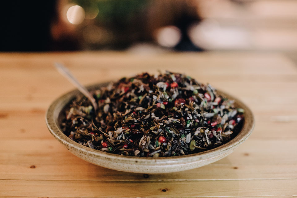 Crunchy wild rice salad, Photo by Matt Lien // Growler Magazine