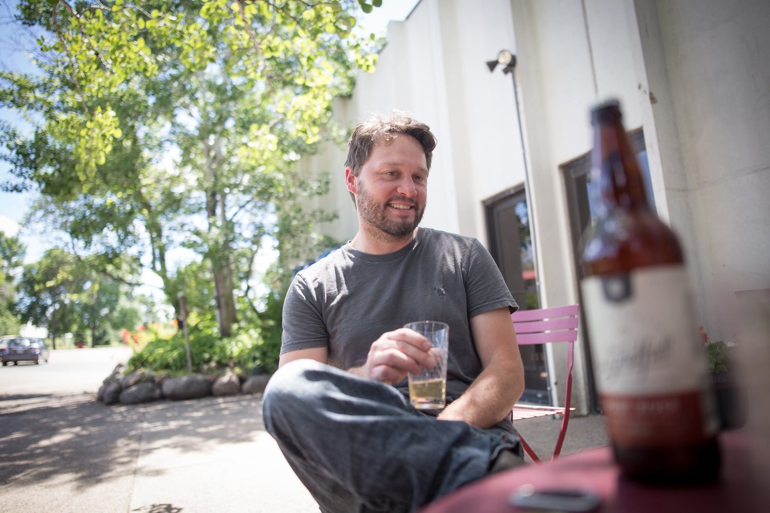 Rob Fisk, founder of Wyndfall Cyder, has been named the new head cidermaker of Minneapolis Cider Company in Northeast Minneapolis // Photo by Aaron Davidson