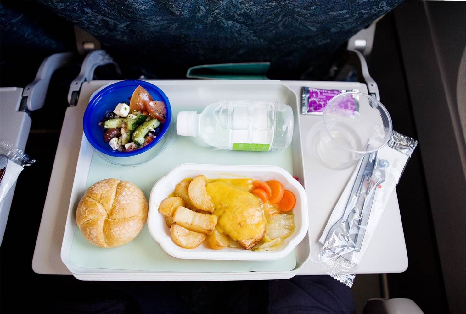 The atmosphere in an airline cabin reduces your ability to detect these tastes by about 30%. Most affected is our ability to taste sweet and salty foods. // Image via NBC