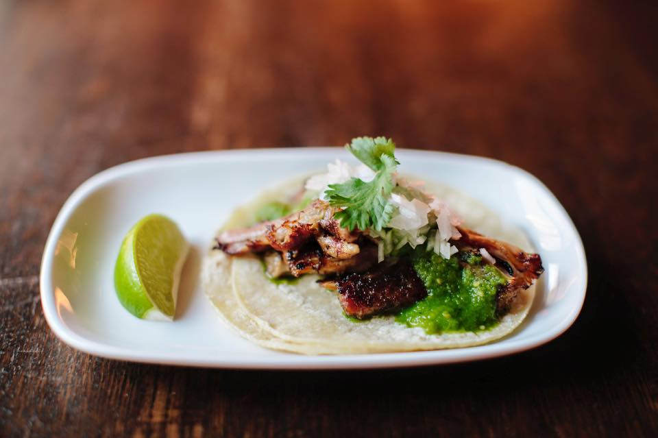 A carnitas taco at Barrio // Photo via facebook.com/BarrioTequilaBar