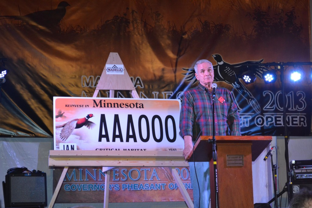Minnesota Governor Mark Dayton speaks at the 2013 Pheasant Opener event // Courtesy of Office of Gov Mark Dayton
