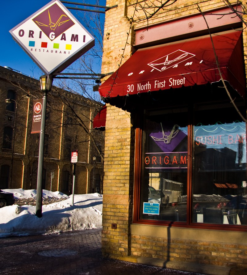 Origami Restaurant opened in downtown Minneapolis 26 years ago. It will close its doors December 23. // Photo by Rachelle Carlson for City Pages