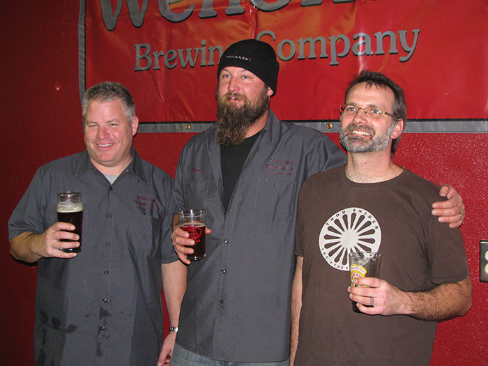 Wenonah Brewing Partners Chris Gardner (left), Dave Weinhold (middle), and Steve Barber (right) // Photo by Lee Weinhold