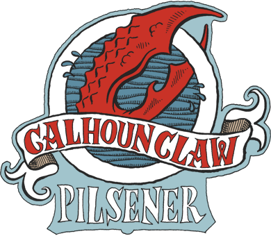Lake Monster Calhoun Claw Pilsener Logo // Courtesy of Lake Monster Brewing's Website