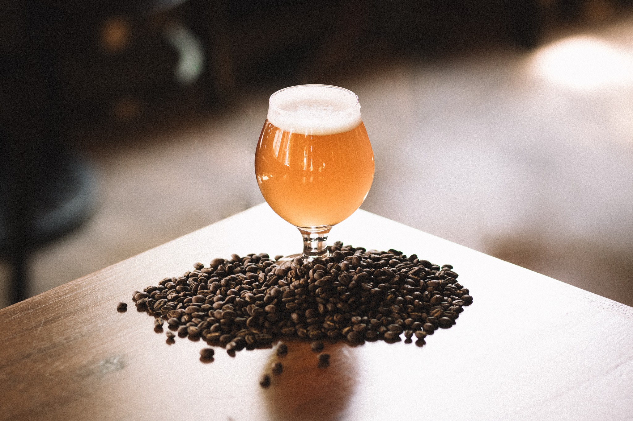 Grand Rounds Brewpub's Steam Power: Golden Coffee Ale // Photo via Grand Rounds Brewpub Facebook