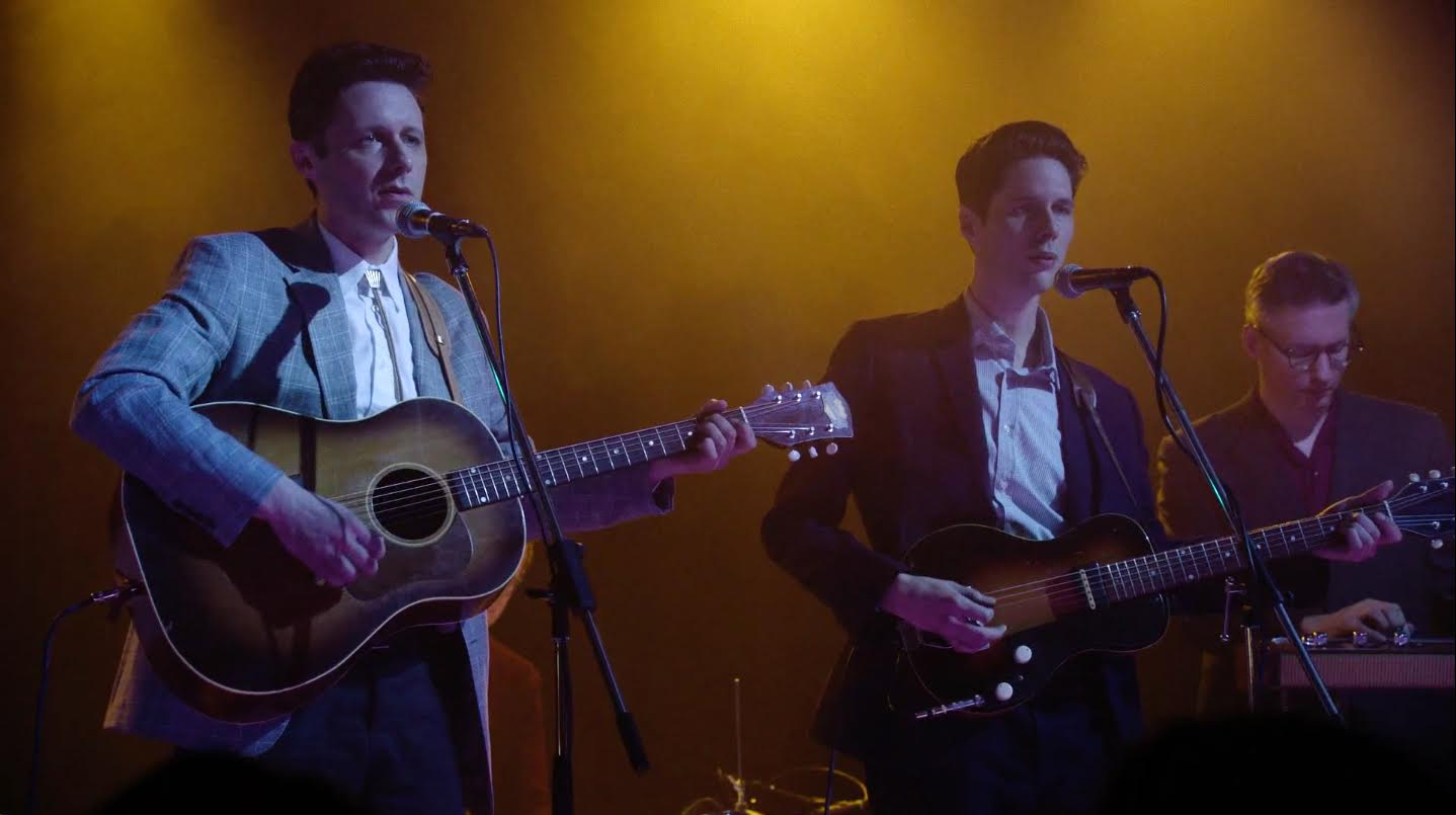 "The Cactus Blossoms performing on the new season of ""Twin Peaks"" // Courtesy of The Cactus Blossoms"