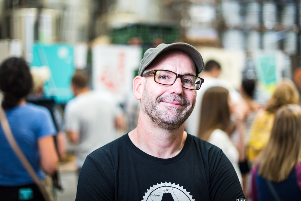 Charles Youel, the founder and creative director of ARTCRANK // Photo by Kevin Kramer, The Growler