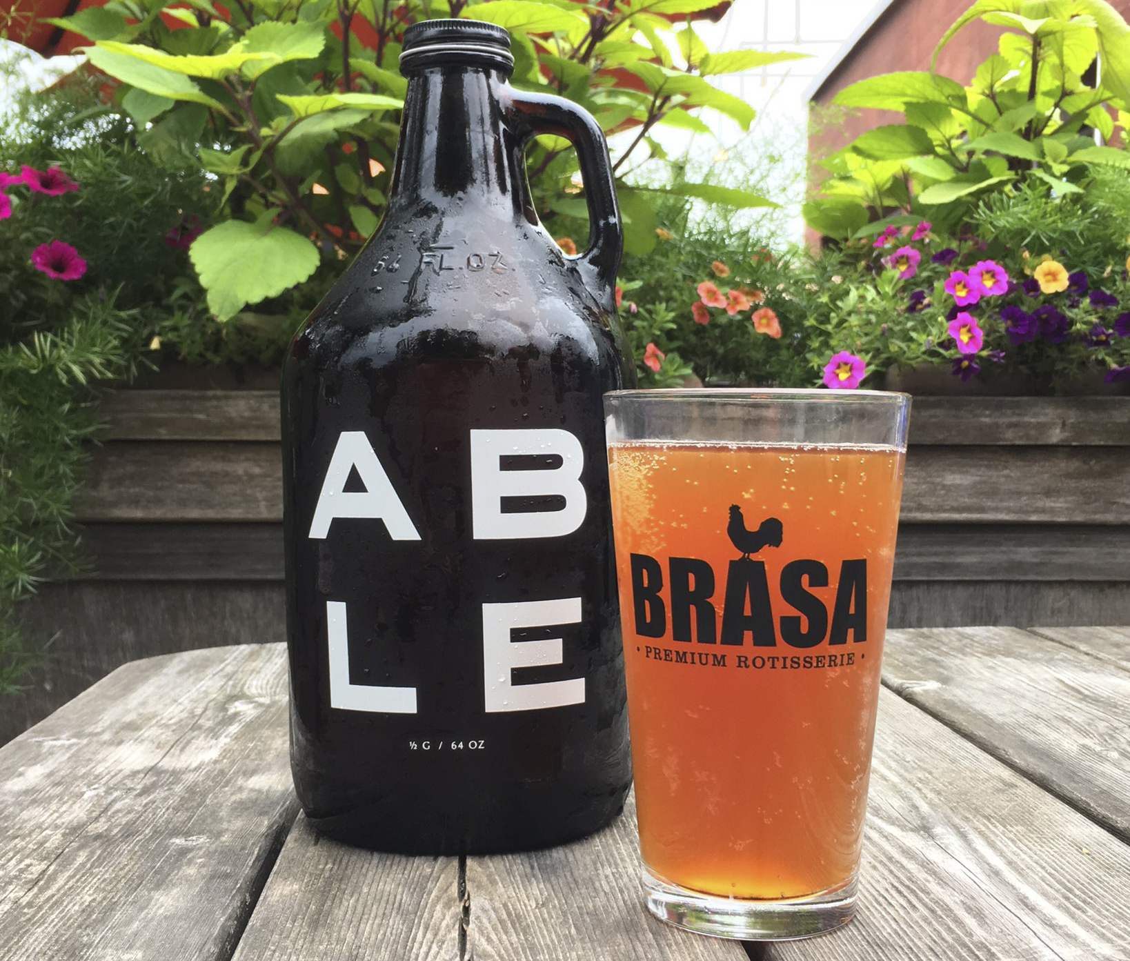Able Seedhouse + Brewery's Easy Tiger, a special beer brewed for Brasa's 10-year anniversary // Photo by Joseph Alton