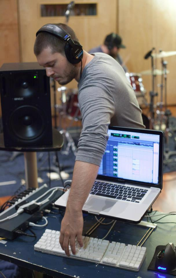 Nick Phillips during a recording session // Photo courtesy of Nick Phillips