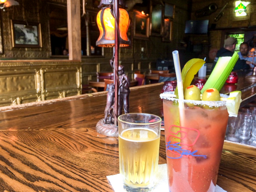 Bloody mary at The Gas Light in Sandstone, Minnesota // Photo by Brian Kaufenberg
