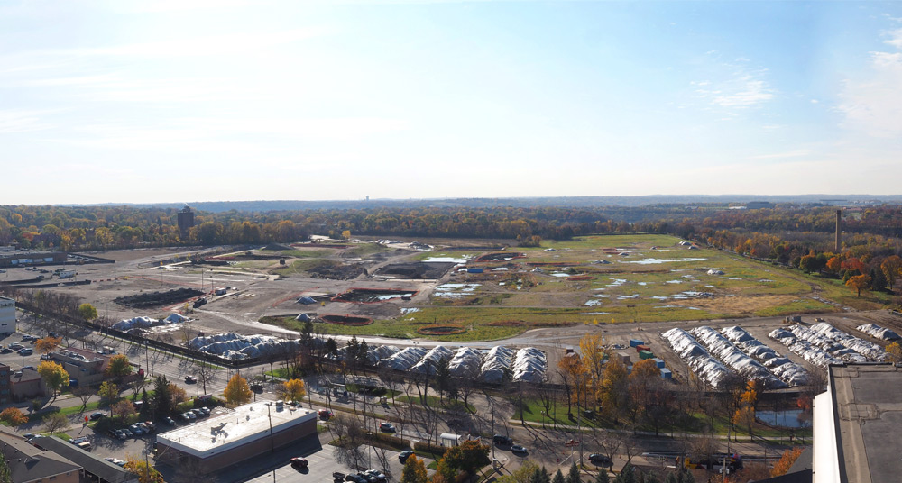 The site of the former Ford Assembly Plant in St. Paul's Highland Park // Photo courtesy of the City of St. Paul