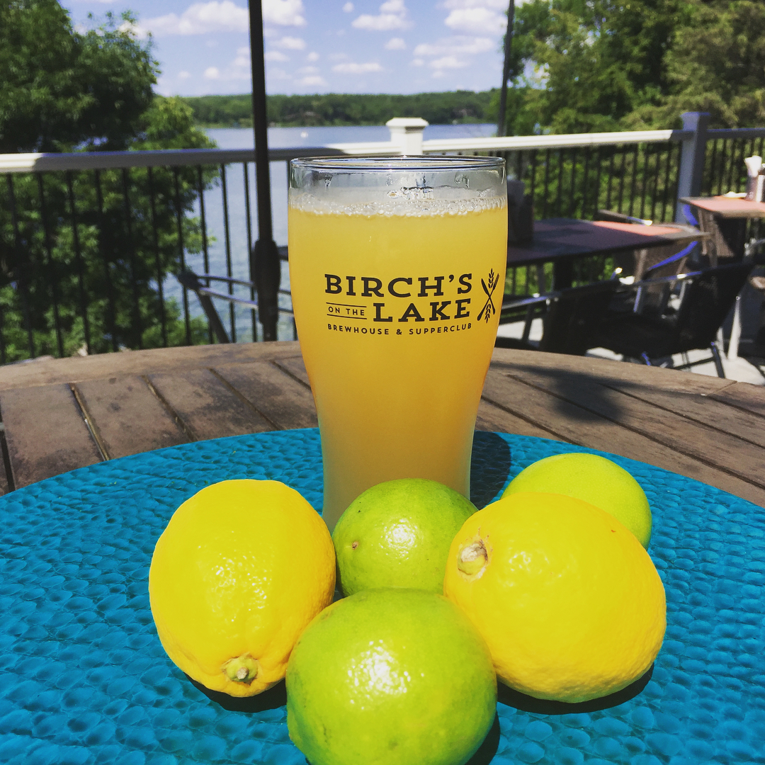 Birch's on the Lake Key Lime Shandy // Photo via Birch's Twitter
