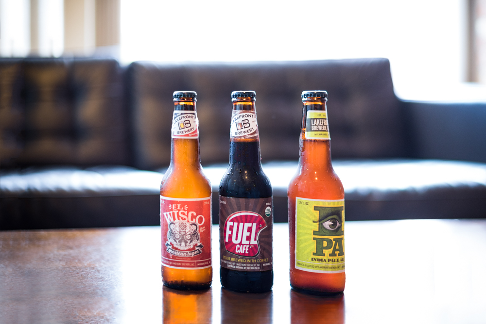 Lakefront's El Wisco, Fuel Cafe, and IPA // Photo by Kevin Kramer, The Growler