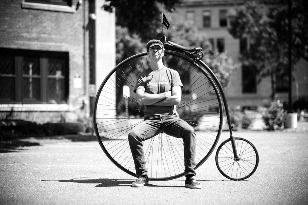 Juston Anderson, captain of the Minnesota Wheelmen and founder of Cycling Museum of Minnesota // Photo by Dan Murphy