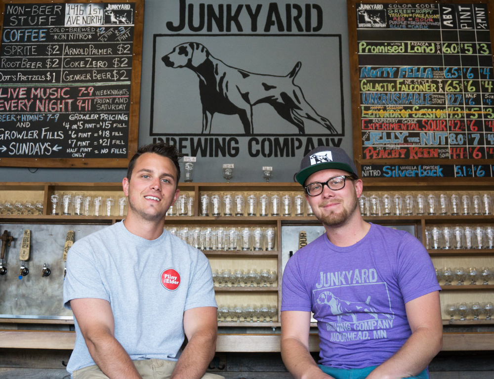 Dan and Aaron Junhke, co-founders of Junkyard Brewing in Moorhead, Minnesota // Photo by Ethan Mickelson