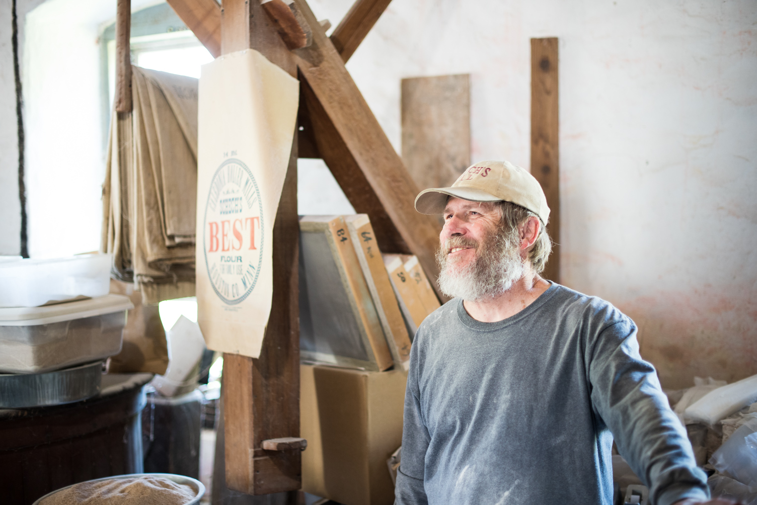 Ed Krugmire is the owner and caretaker of Schech's Mill // Photo by Kevin Kramer, The Growler