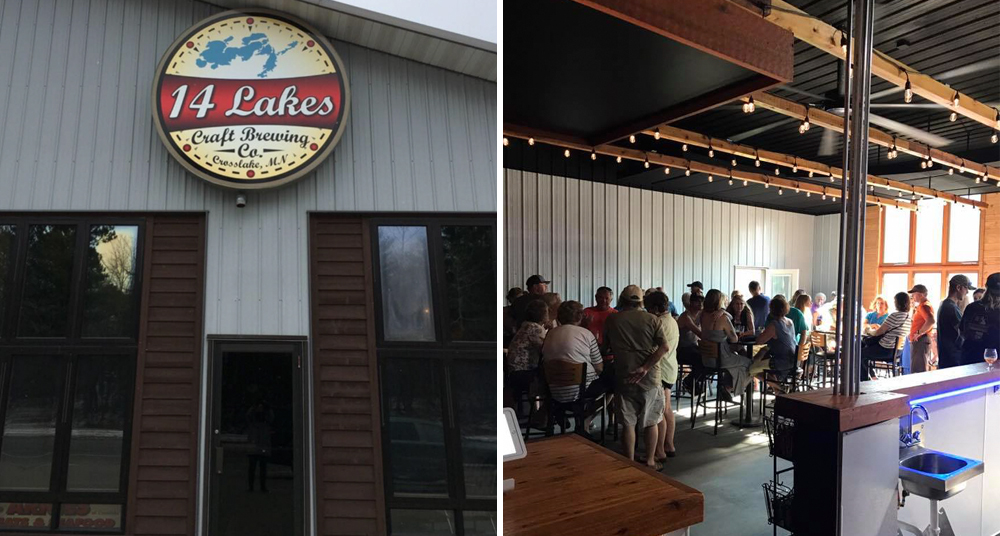14 Lakes Brewery in Crosslake, Minnesota, opened on September 3 // Photos via 14 Lakes Brewery's Facebook