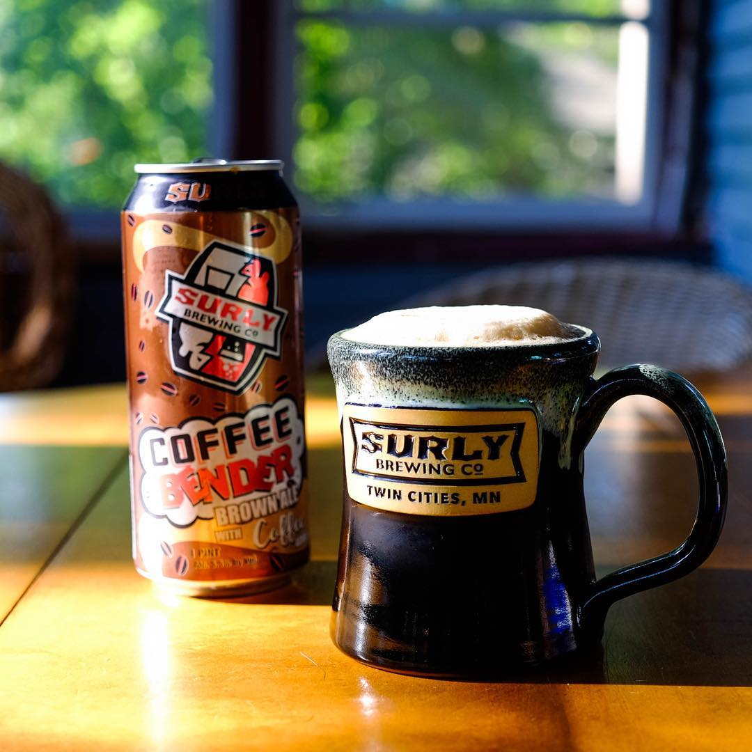 Surly Coffee Bender Oatmeal Brown Ale // Photo courtesy of Surly Brewing