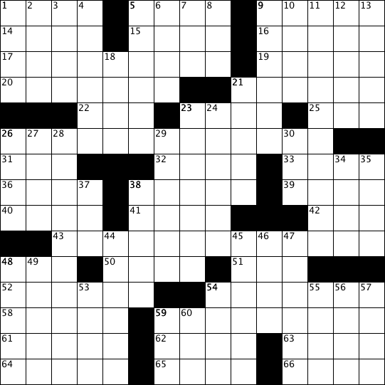 Crossword Puzzle: Issue 48 - October 2017 - Games & Puzzles