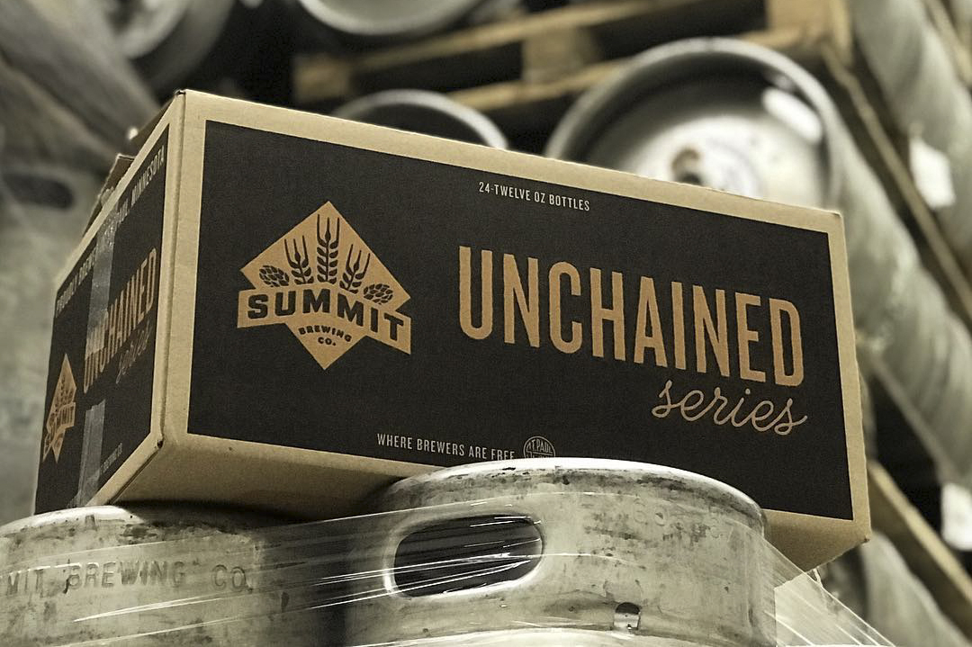 Summit Brewing's new Unchained Series offering is Westie 7th, a // Photo via Summit Brewing's Instagram