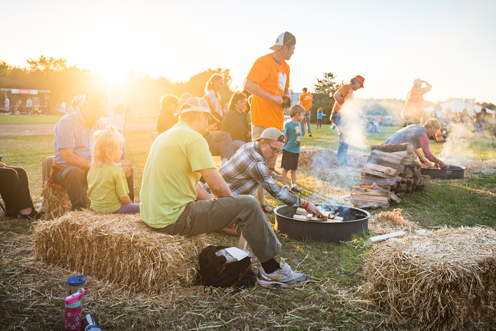 Some attendees of the 2016 Prairie Burn Festival enjoyed cooking around campfires with friends and family // Photo by Kevin Kramer
