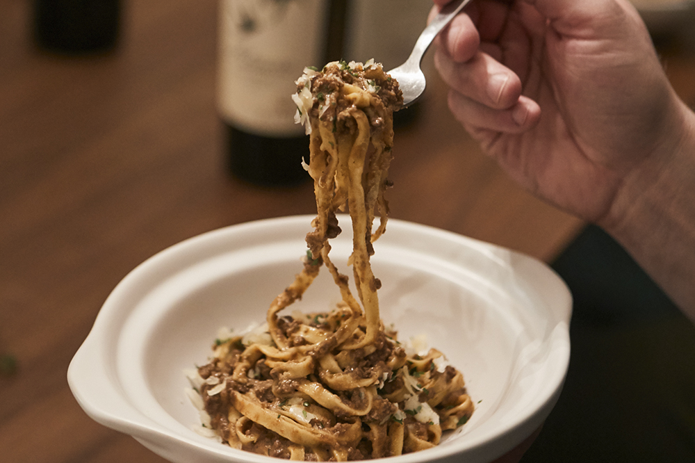 Adam Eaton's Moose bolognese // Photo by Wing Ta