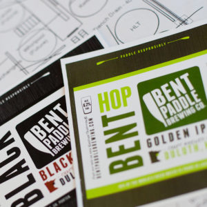 Bent Paddle Brewing Labels // A Growler Magazine Photo