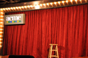 The famous stage of ACME Comedy Club // A Growler Magazine Photo