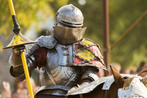 A Knight in semi-shiny armor at the Minnesota Renaissance Festival // Photo courtesy of the Minnesota Renaissance Festival