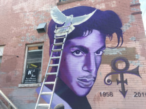 The Prince Mural in Uptown, Minneapolis // Photo courtesy of 89.3, The Current Blog