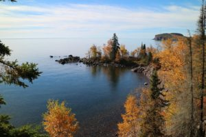 A view from Tettegouche State Park during Autumn overlooking Lake Superior // Photo via the Minnesota State Parks and Trails Facebook