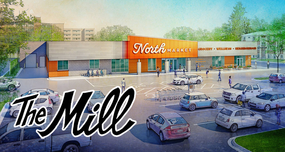 An architect's rendering of the coming My North Market in North Minneapolis // Photo via My North Market Facebook