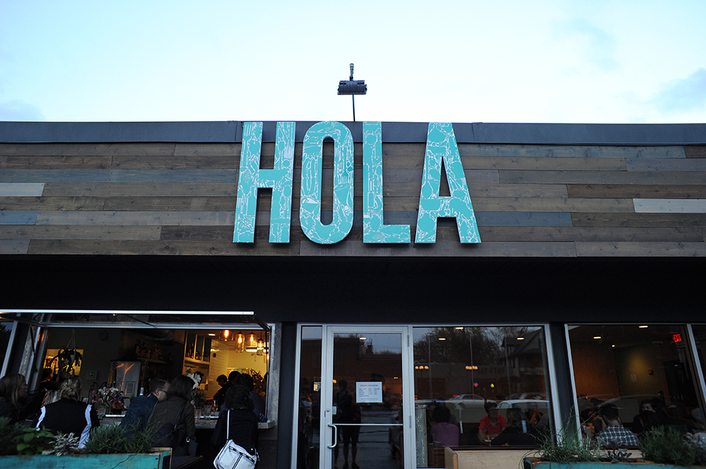 The brick and mortar store of Hola Arepa // Photo by Aaron Davidson