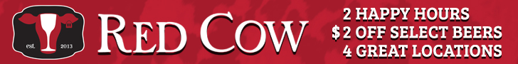 Red Cow New Happy Hour Ads 2017 Banner
