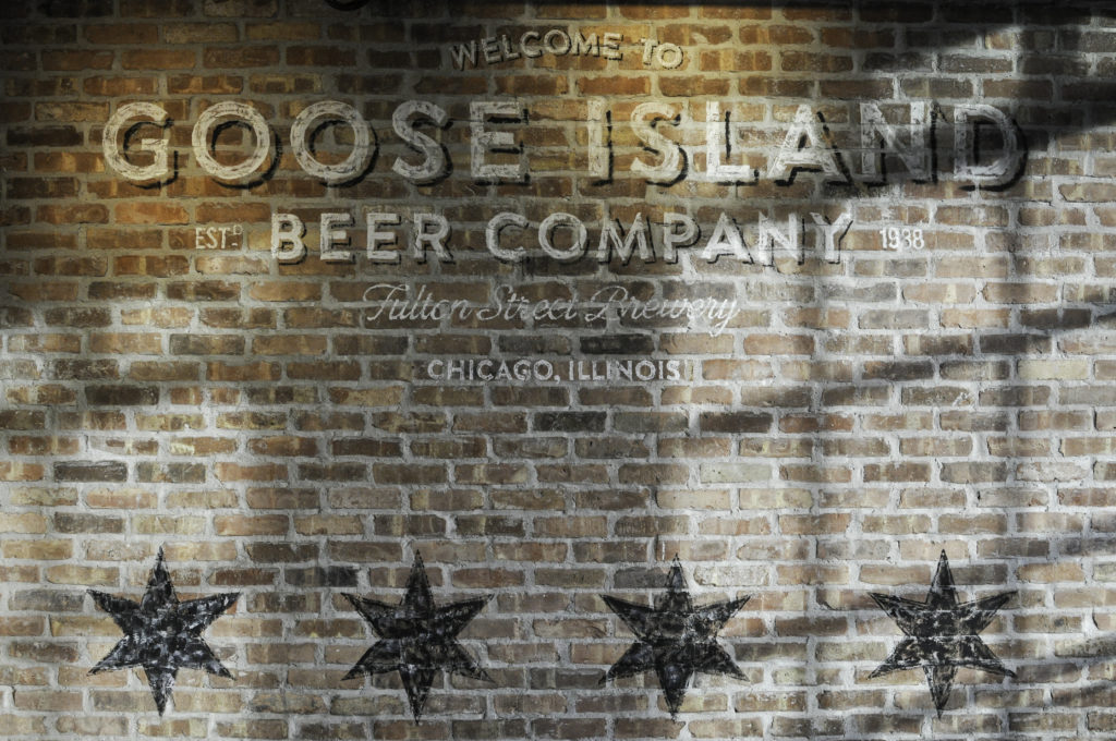 A sign inside the Goose Island Taproom in Chicago // Photo by Aaron Davidson