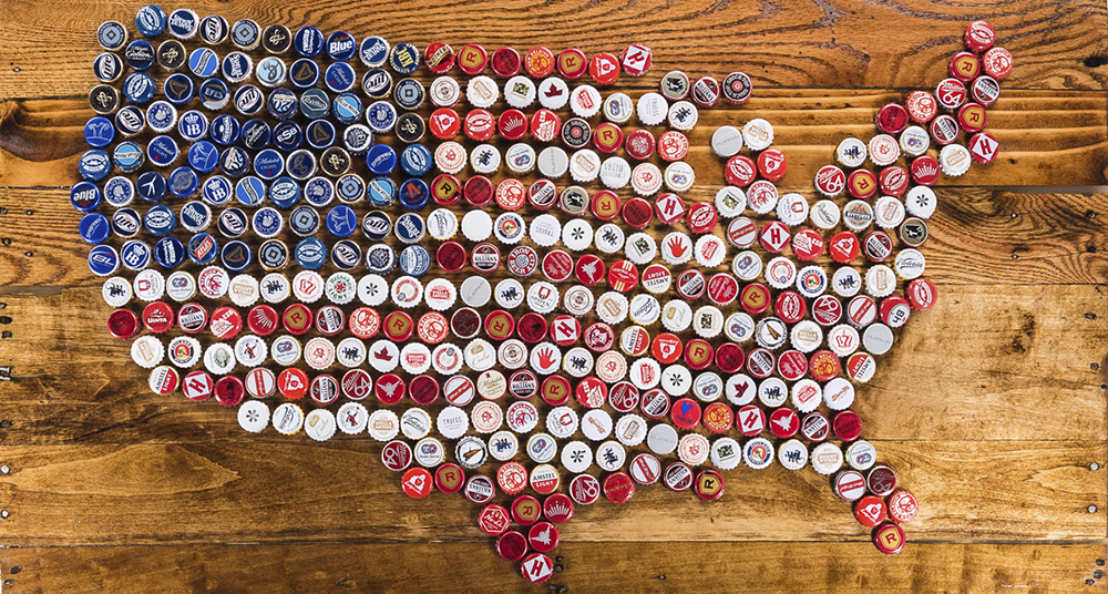 The United States of beer // Photo courtesy of The Beer Dabbler