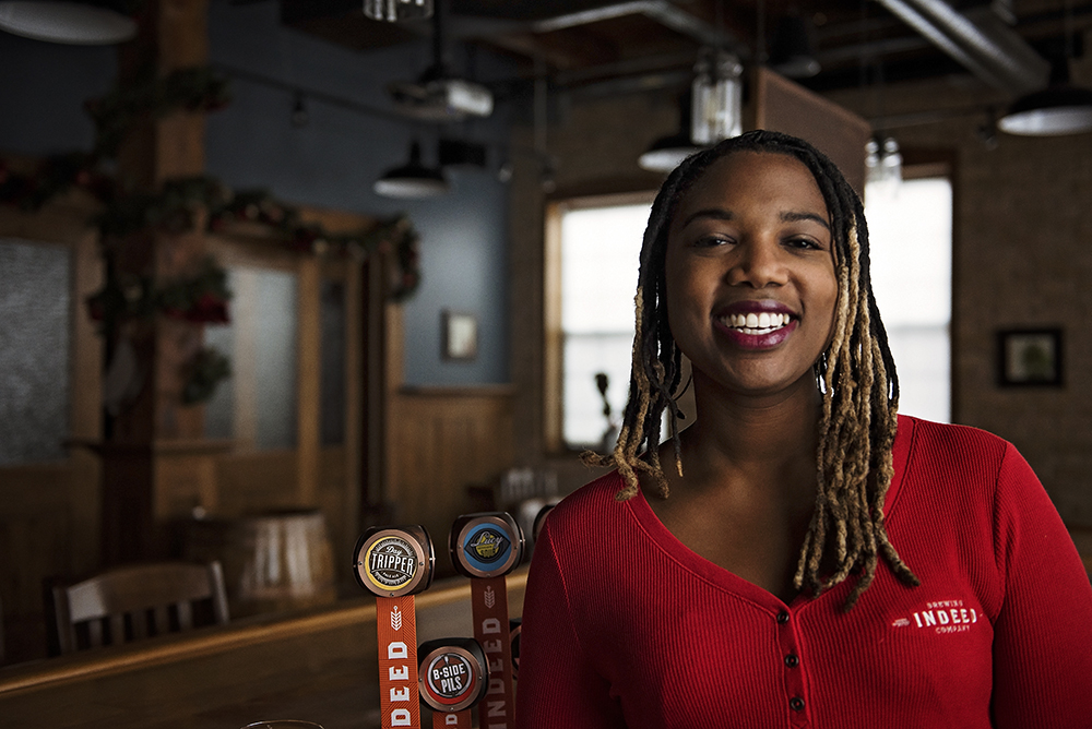 Elle Rhodes of Indeed Brewing Company // Photo by Madalyn Rowell