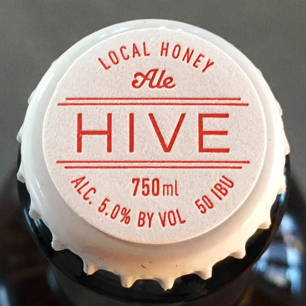 Bang Brewing Company's Local Honey Ale called HIVE // Photo courtesy Bang Brewing's Twitter