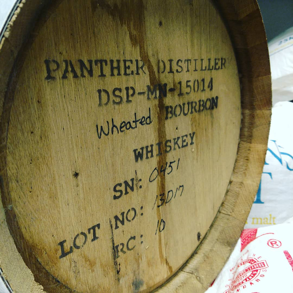 Copper Trail Brewing Company's newest equipment, a barrel from Panther Distiller // Photo courtesy Copper Trail Brewing Company Facebook