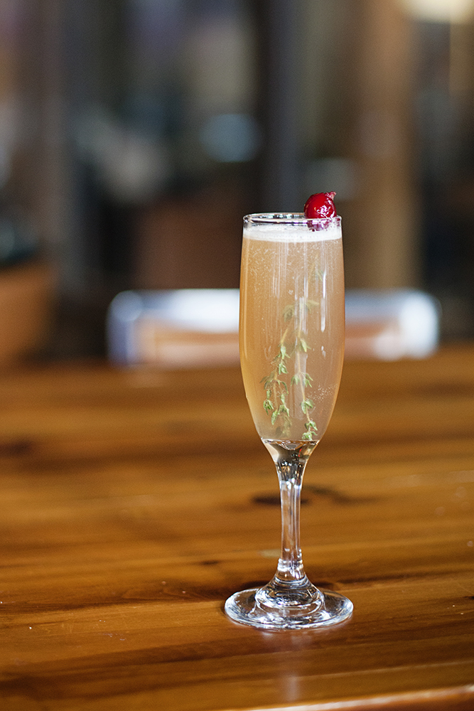 Trish Gavin's aquavit-based variation on the French 75 // Photo by Katie Cannon