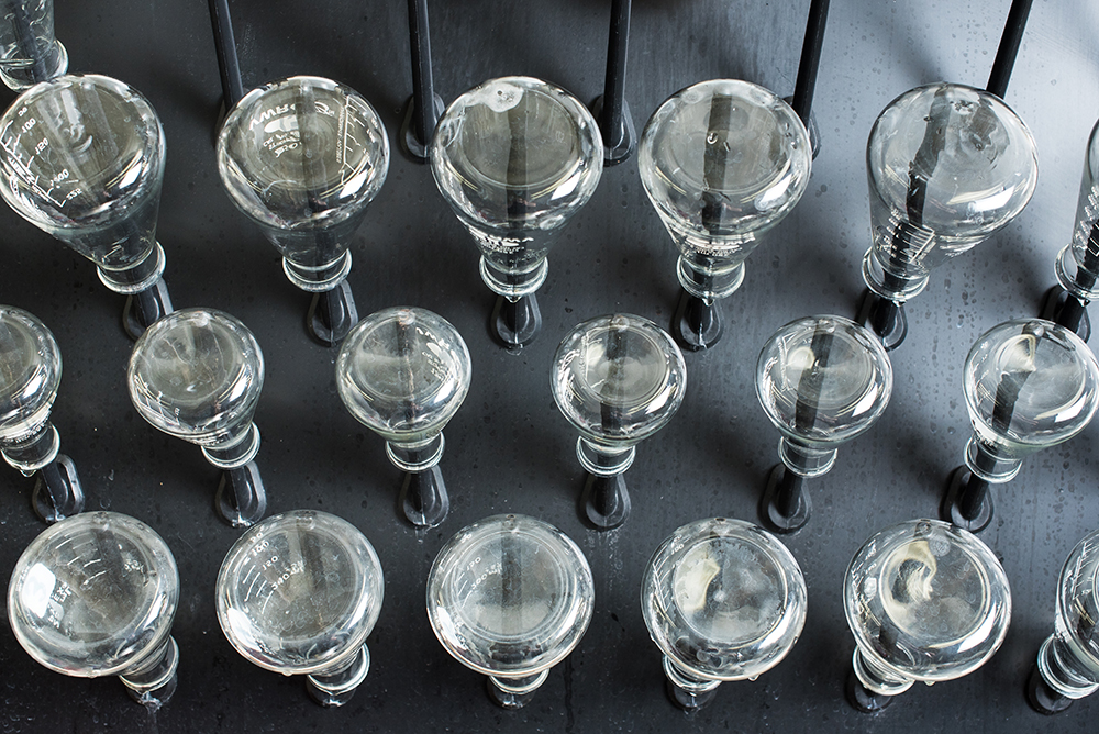 Quality assurance and quality testing beakers // Photo by Kevin Kramer