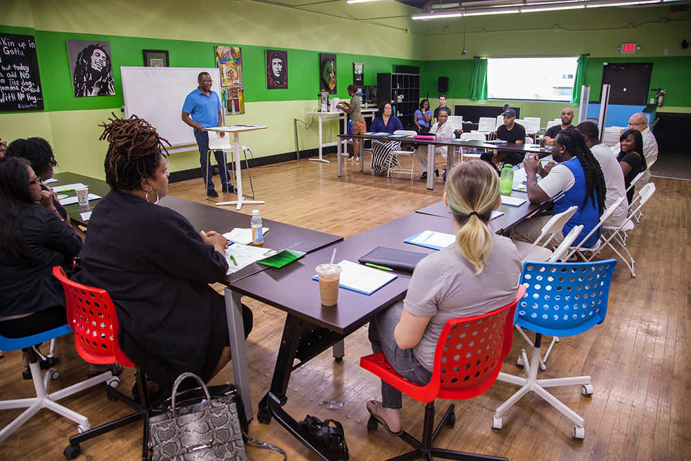 "Northside Economic Opportunity Network (NEON), a North Minneapolis based organization is dedicated to ""expanding economic development opportunities and building wealth for low- to moderate-income entrepreneurs in north Minneapolis and surrounding communities"" // Photo by Tim Pearson"