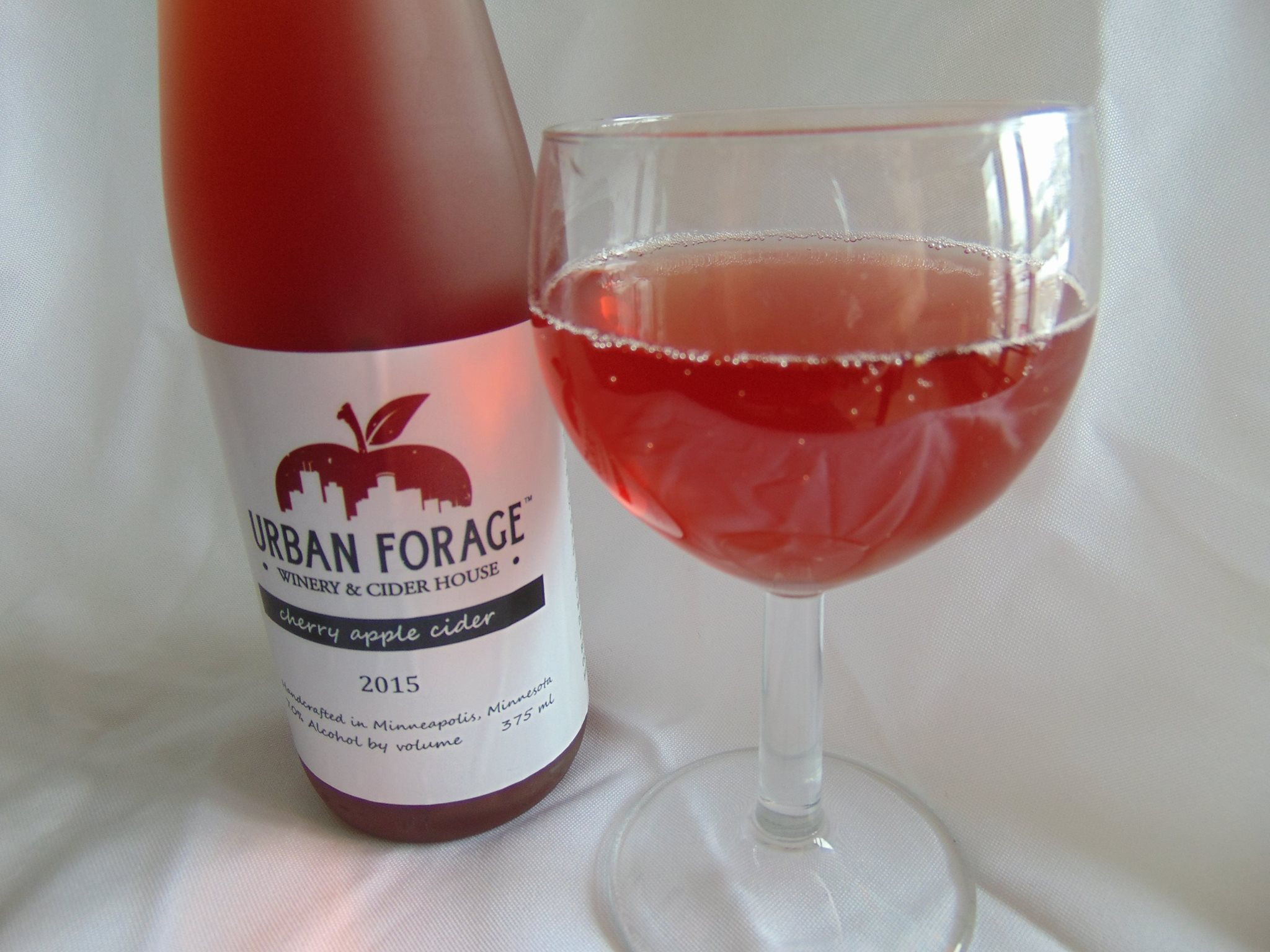 Urban Forage Winery and Cider House's Cherry Apple Cider // Photo courtesy Urban Forage Winery and Cider House Facebook