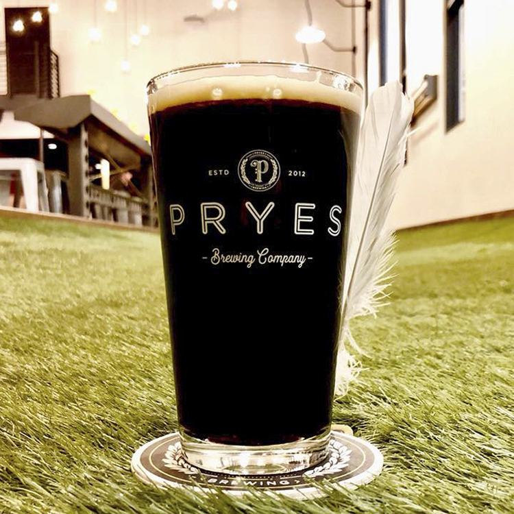 Pryes Dublin Dry Stout // Photo via Pryes Brewing's Facebook