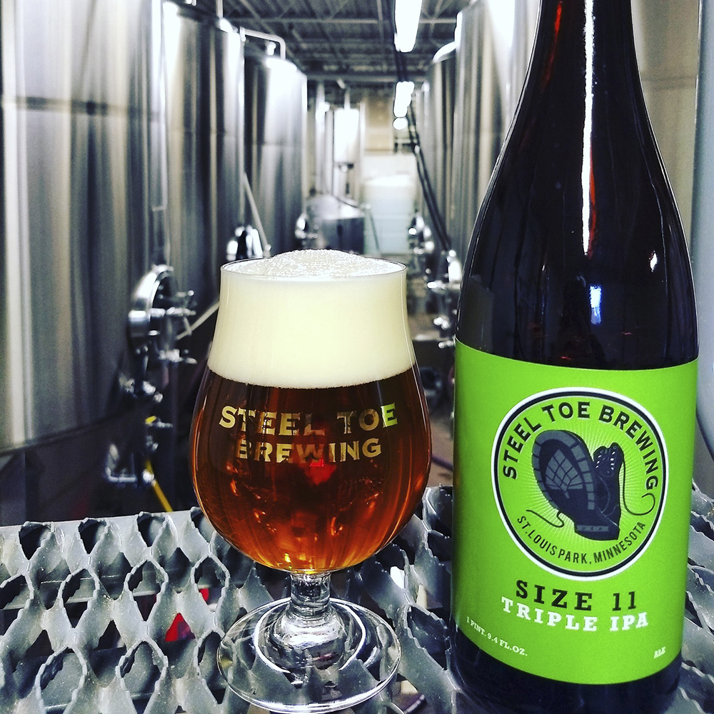 Steel Toe Size 11 Triple IPA // Photo via Steel Toe Brewing's Facebook